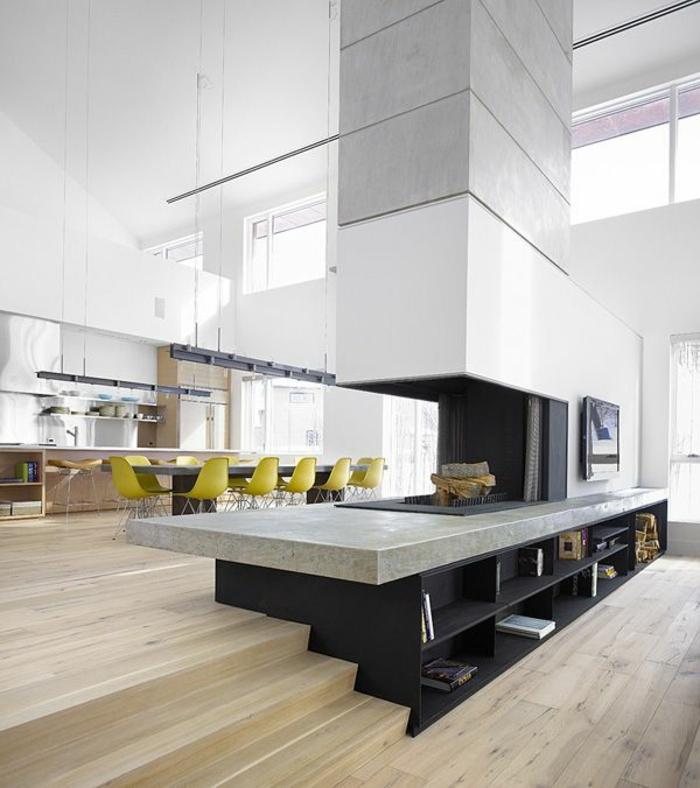 aménagement-de-cuisine-ouverte-intérieur-vaste-haut-plafond