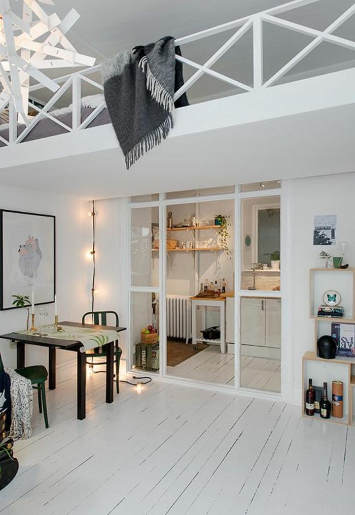 aménagement-de-cuisine-ouverte-petite-cuisine-et-mezzanine