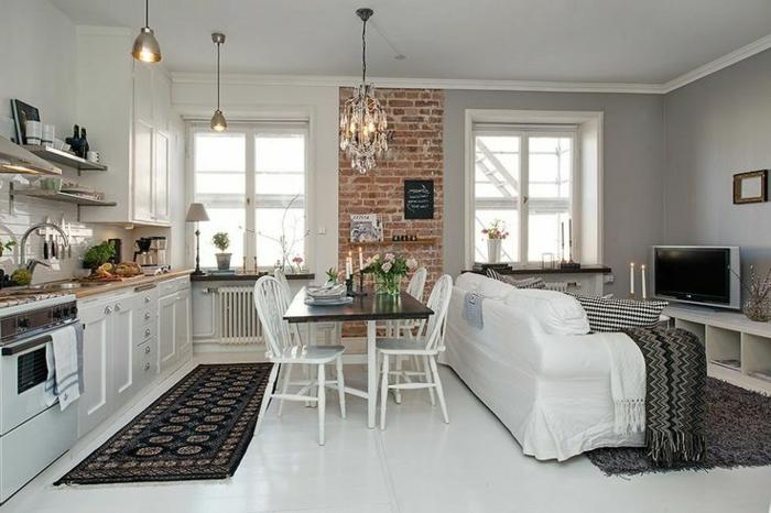 Quelques exemples de joli am nagement de cuisine ouverte for Cuisine ouverte petit espace