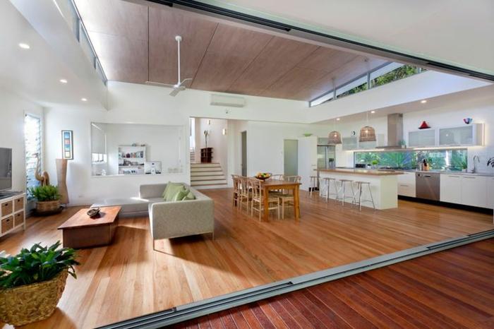 aménagement-de-cuisine-ouverte-salle-de-séjour-et-salle-à-manger