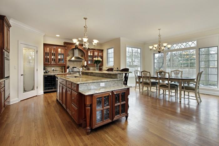 aménagement-de-cuisine-ouverte-une-belle-cuisine-avec-salle-à-manger