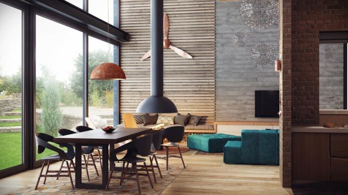 aménagement-meuble-style-industriel-chaise-salle-à-manger