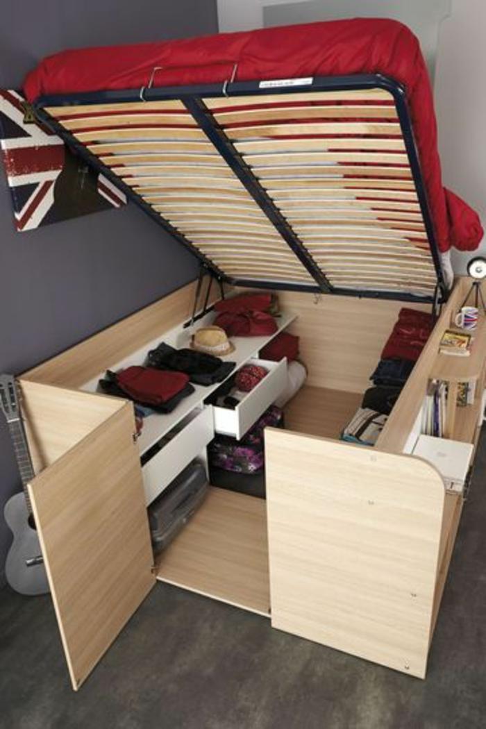 aménagement-petit-espace-lit-pliant-chambre-garçon-lit-conforama-lit-d-appoint-enfant