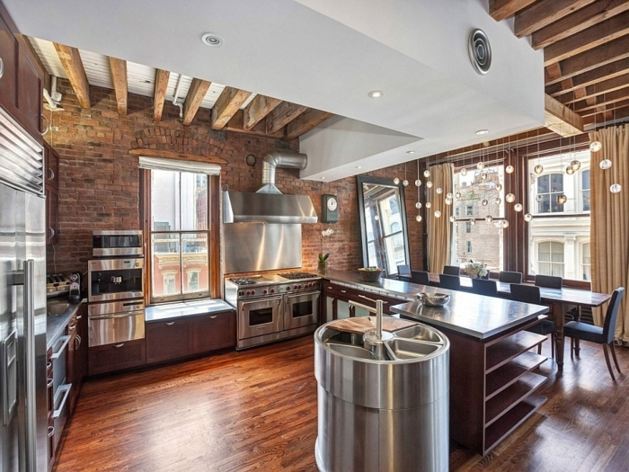 La deco loft new yorkais en 65 images for Idee deco cuisine new york