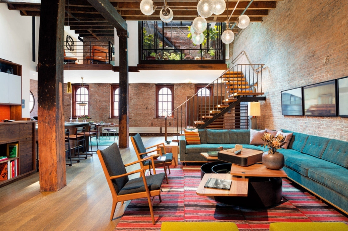 La deco loft new yorkais en 65 images for Interieur loft new york