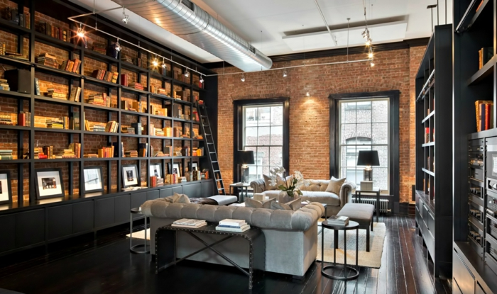 D co salon loft new york for Deco salon style new york