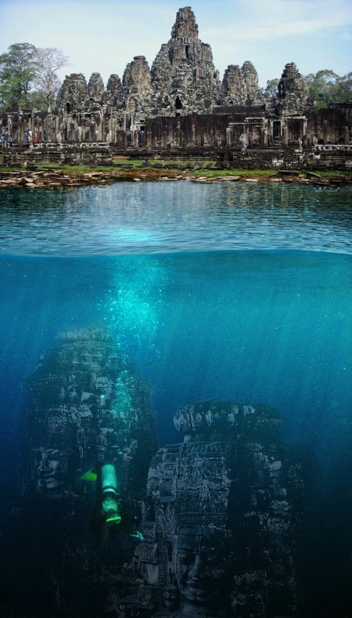 architecture-vernaculaire-têtes-submergés-d'Angkor