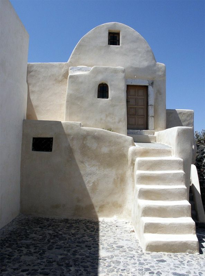 architecture-vernaculaire-vieux-bâtiment-à-Santorine
