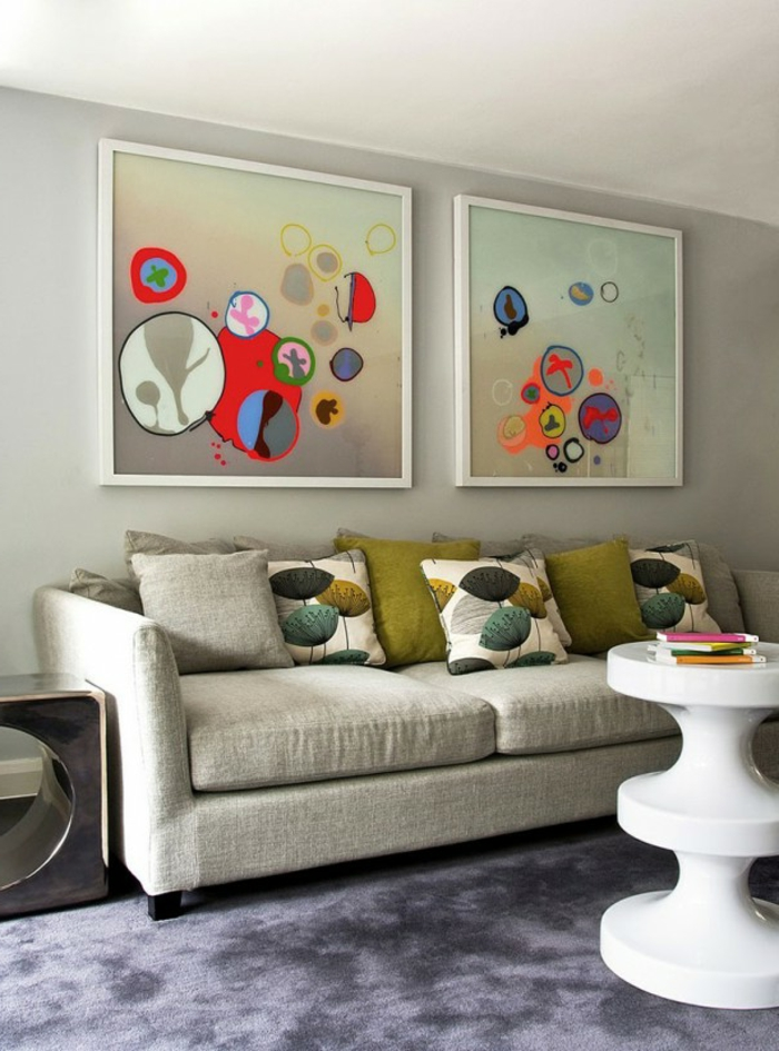 art-abstrait-jolie-décoration-pour-lé-séjour-parfait