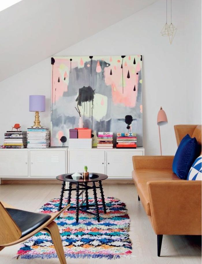 art-abstrait-peinture-abstraite-salle-de-séjour-scandinave