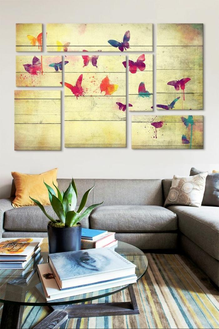 art-abstrait-peinture-papillons-sofa-sectionné