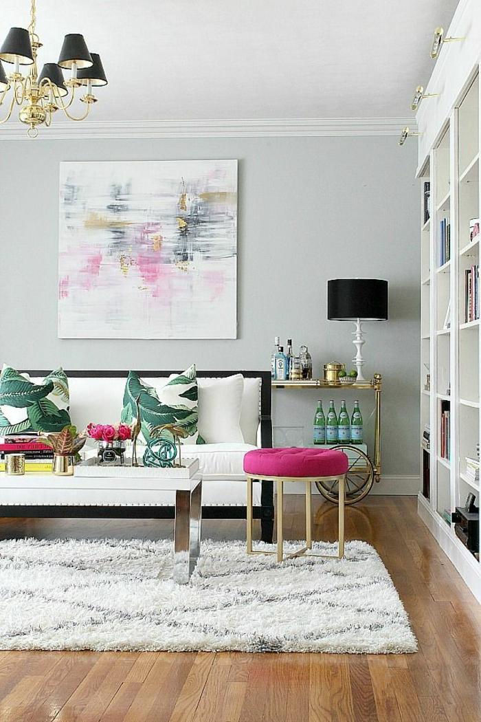R aliser une merveilleuse d coration avec l 39 art abstrait for Peinture salon maroc violet