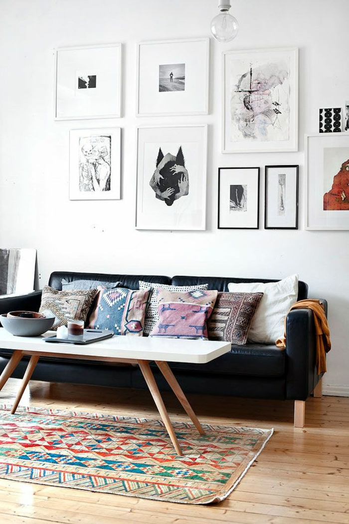 art-abstrait-peintures-abstraites-salle-de-séjour-scandinave