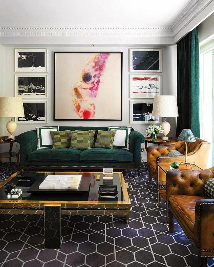 art-abstrait-séjour-commode-art-abstrait-peintures