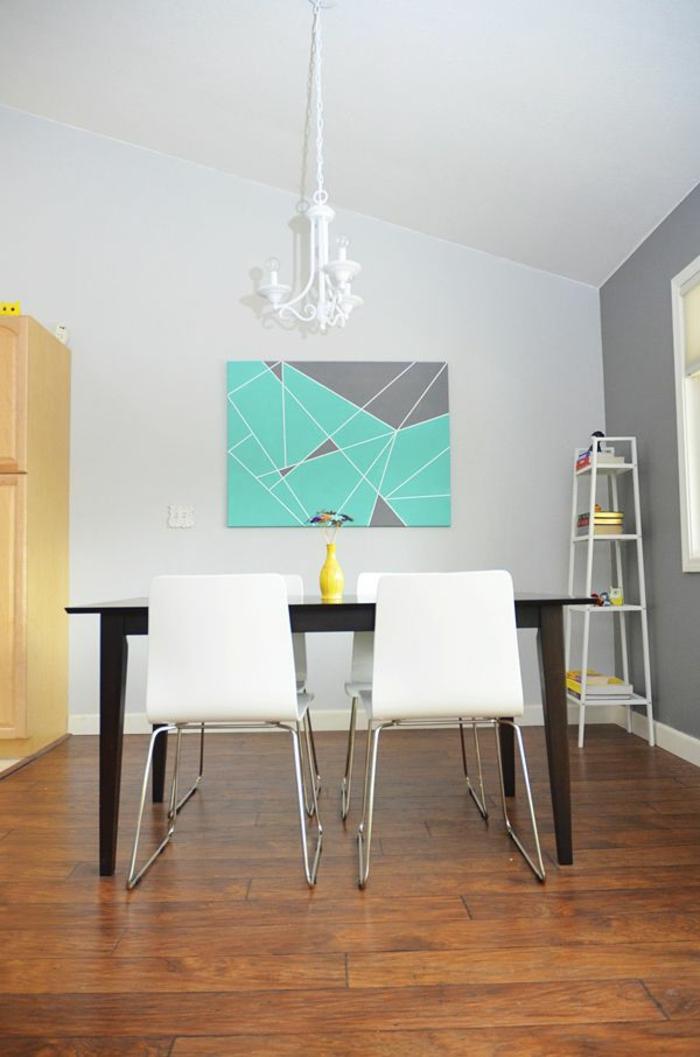 art-abstrait-salle-de-déjeuner-minimaliste