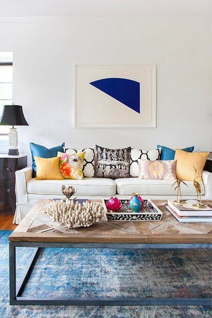 art-abstrait-salle-de-séjour-plusieurs-coussins-tableau-art-abstrait
