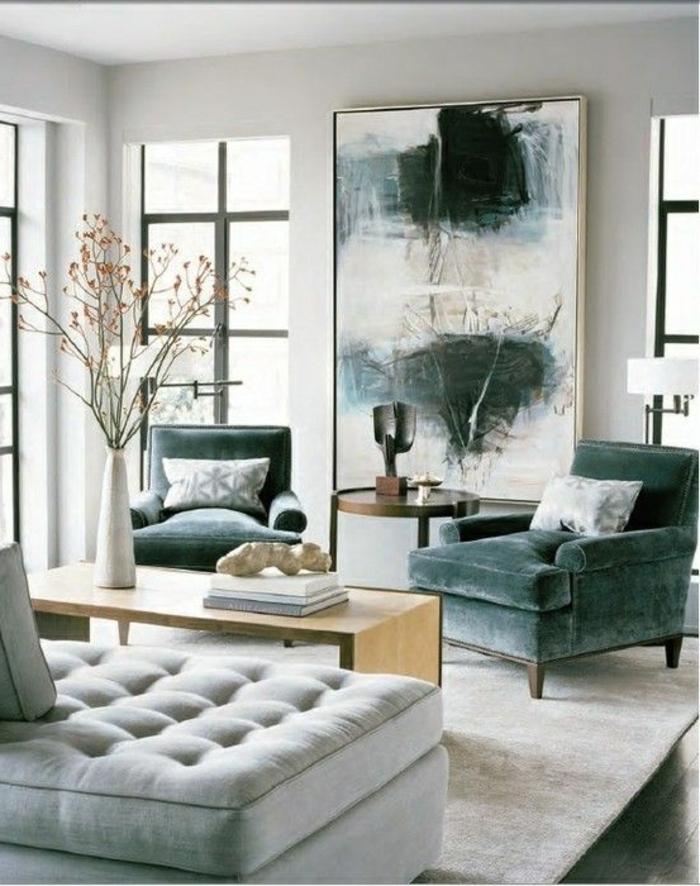 art-abstrait-sofas-grands-et-commodes