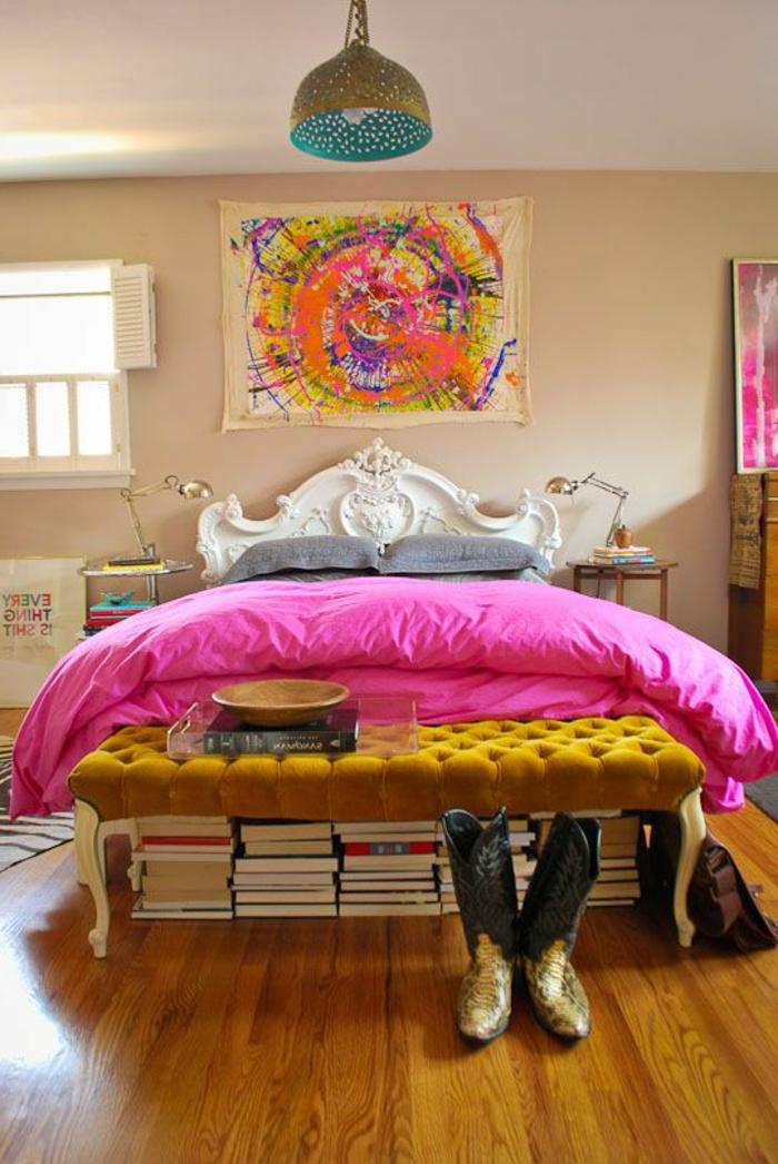 art-abstrait-tableau-art-abstrait-chambre-à-coucher-boho