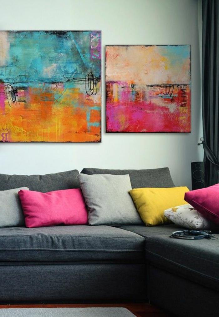 art-abstrait-tableaux-peintures-abstraites-sofa