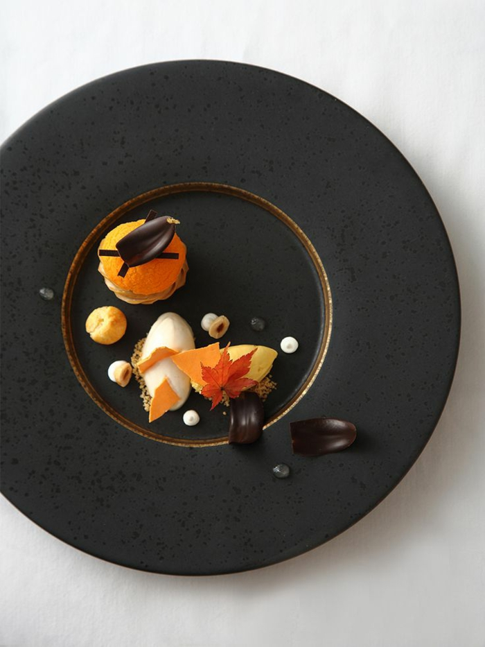assiette-de-présentation-chocolat-et-pana-cotta