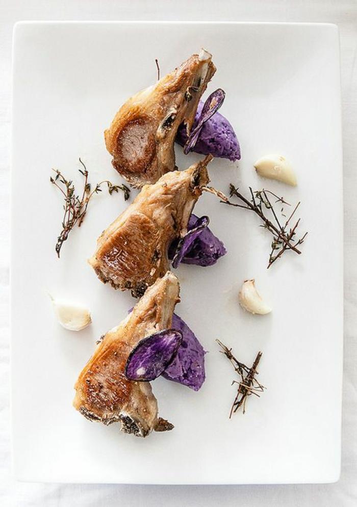 assiette-de-présentation-comment-servir-de-la-viande