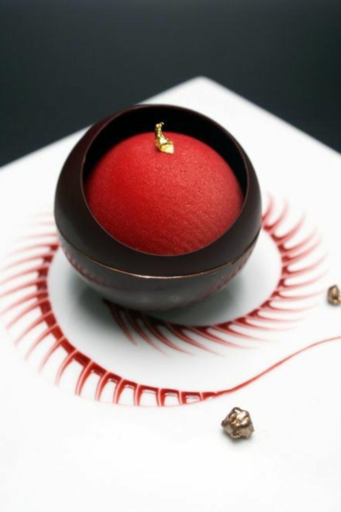 assiette-de-présentation-dessert-sphérique