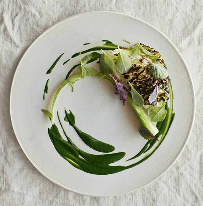 assiette-de-présentation-plat-végétal