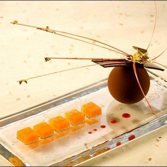 assiette-de-présentation-sculpture-de-chocolat