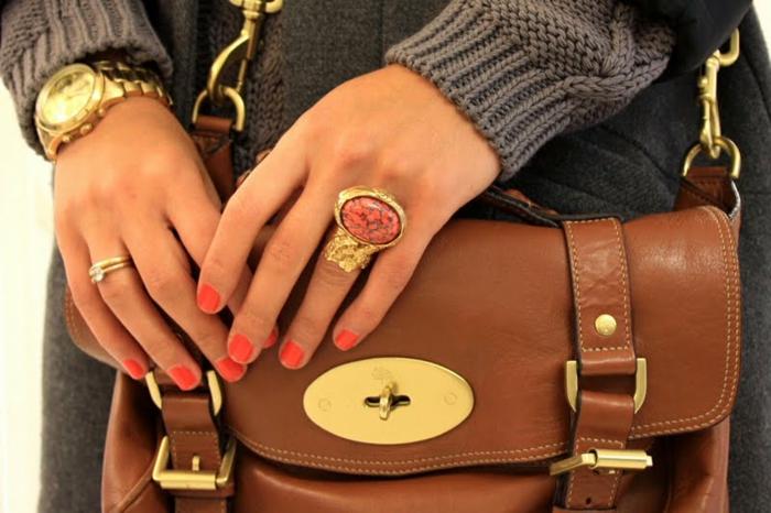bague-yves-saint-laurent-accessoire-chique-bijou-dorée