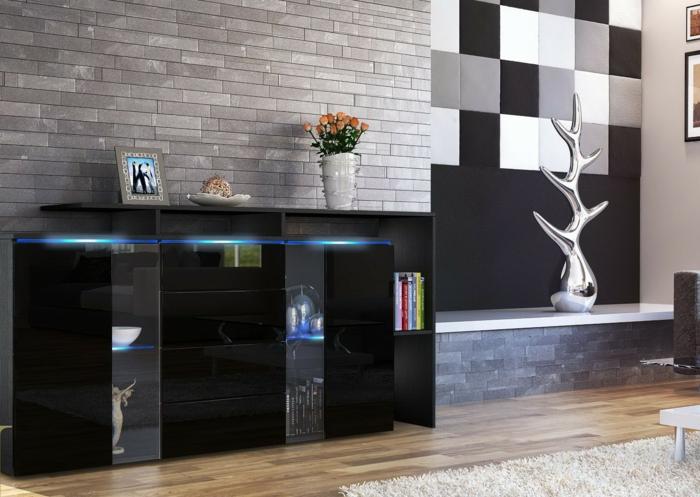 40 idées pour votre intérieur avec le bahut noir laqué - Archzine.fr