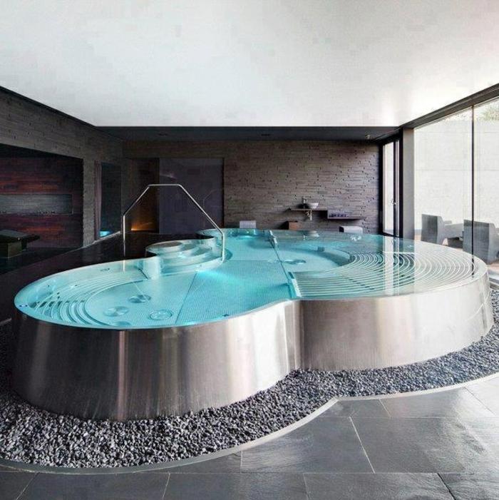 Faites vous le plaisir de la baignoire jacuzzi for Salle de bain moderne avec baignoire