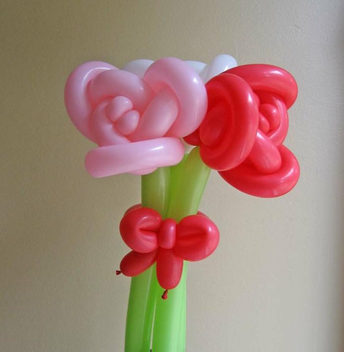 ballon-sculpture-facile-à-faire-vous-mêmes-fleur-roses