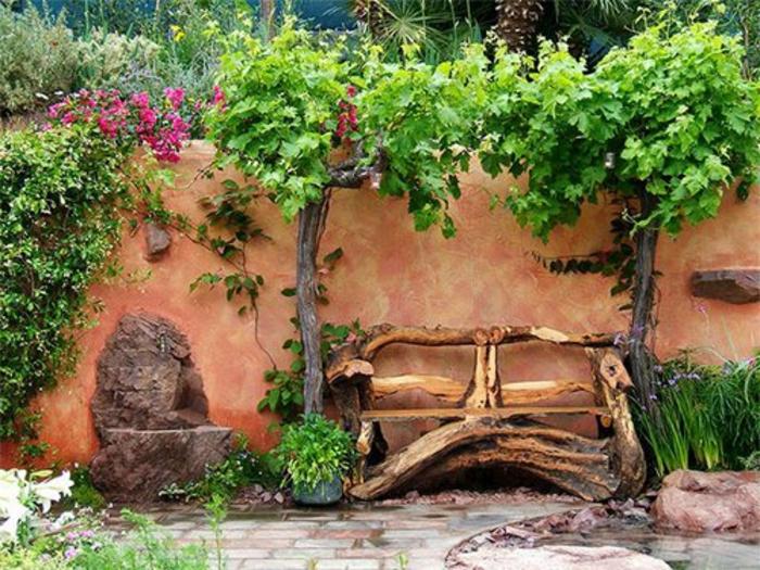 banc-en-bois-joli-cour-de-jardin-avec-banc-de-jardin-pas-cher-comment-fabriquer-un-banc-de-jardin