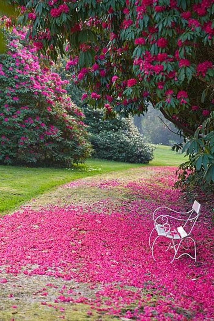 banc-fer-forgé-meubles-de-jardin-moderne-et-confortable-un-joli-jardin