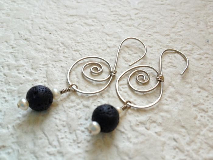 bijoux-avec-pierre-volcanique-boucles-d'oreilles-élégantes