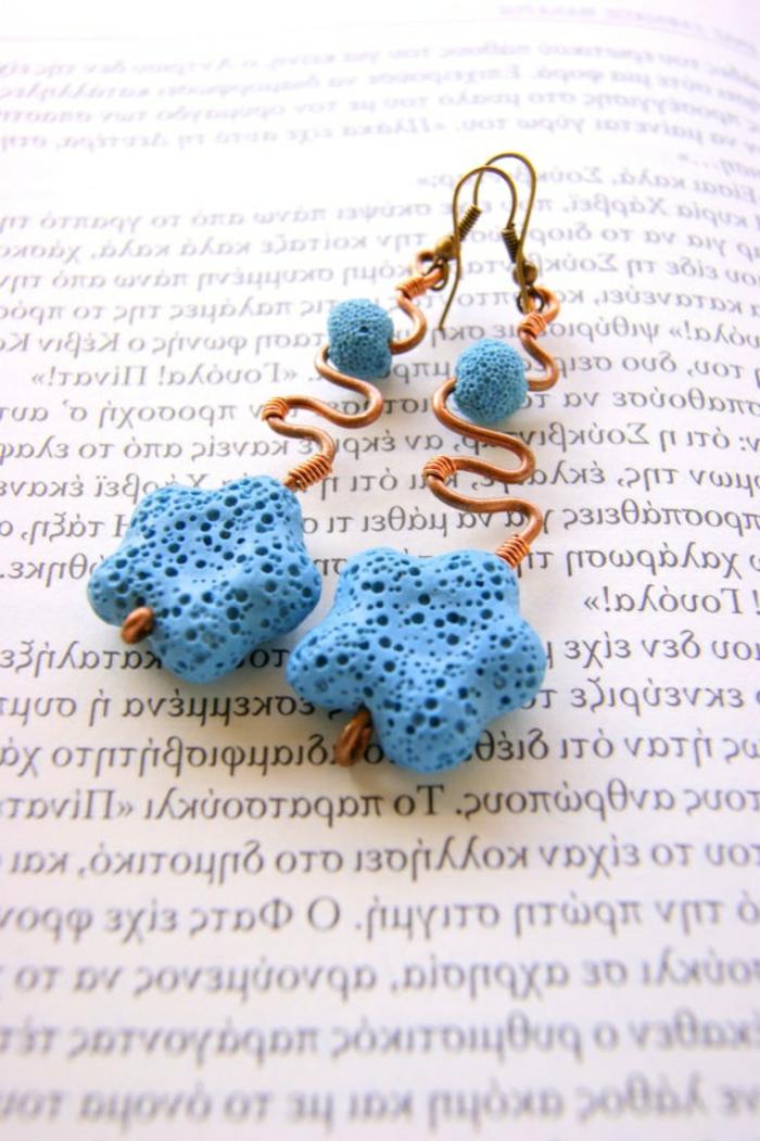 bijoux-avec-pierre-volcanique-belles-étoiles-de-mer-et-cuivre