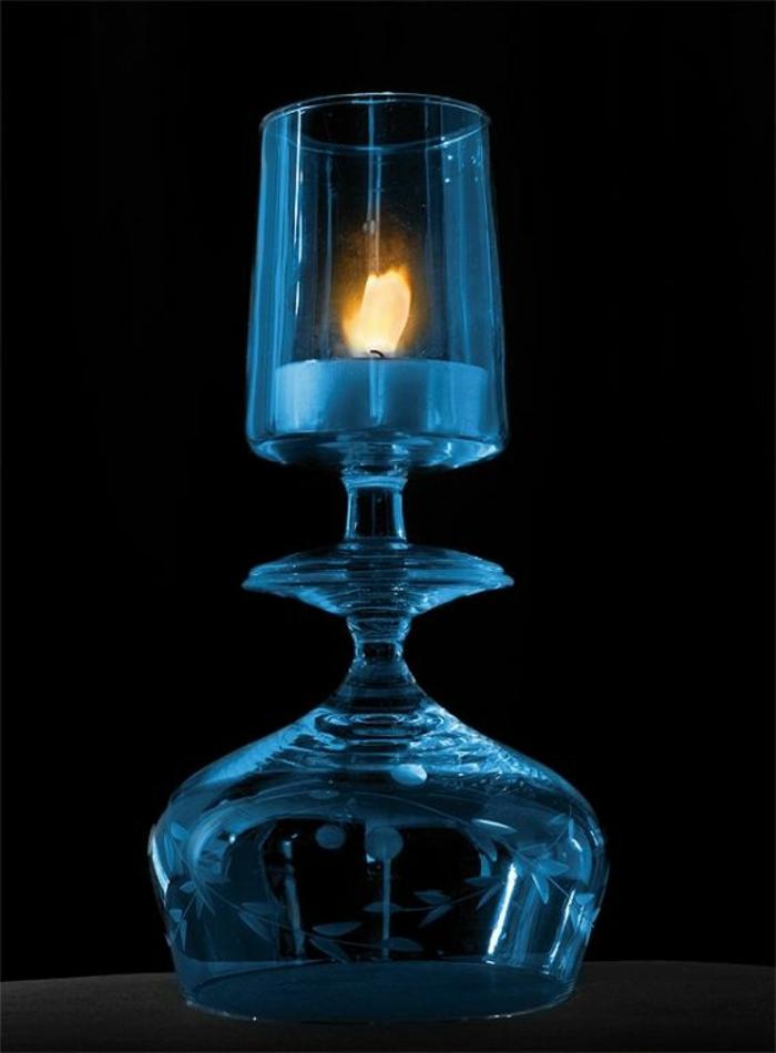 bougeoir-en-verre-chandelier-en-verre-bleu