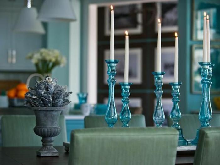 bougeoir-en-verre-chandeliers-en-verre-bleu