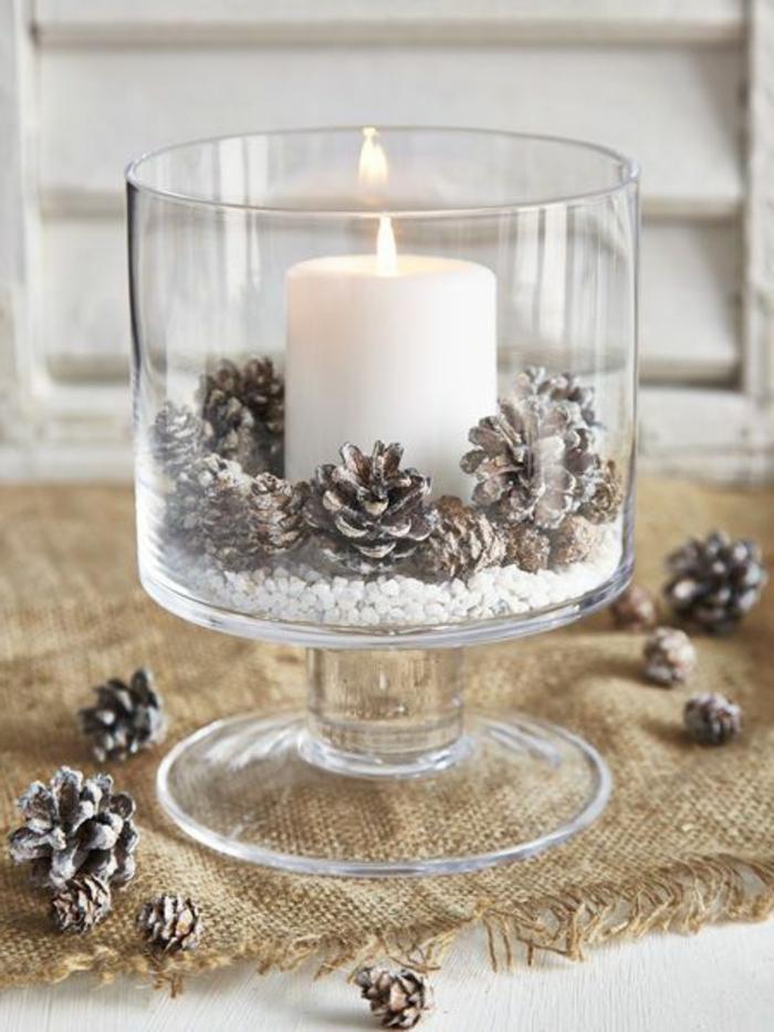 Le bougeoir en verre jolies tendances de d coration avec - Deco table de noel pas cher ...