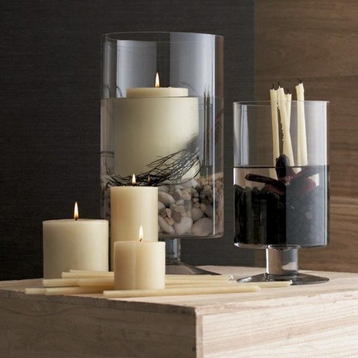 Le bougeoir en verre   jolies tendances de décoration avec bougies
