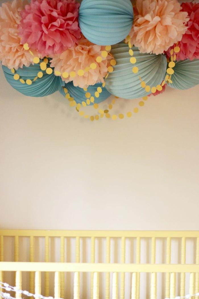 boule chinoise lanterne papier suspension luminaire chambre d - Luminaire Boules Colores