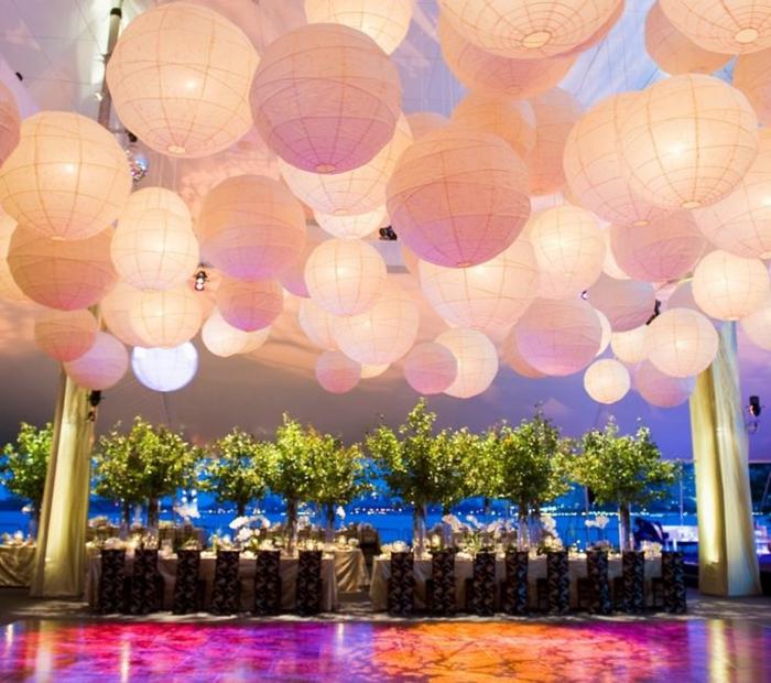La boule chinoise est un joli et original moyen de d coration - Luminaire boule papier ...