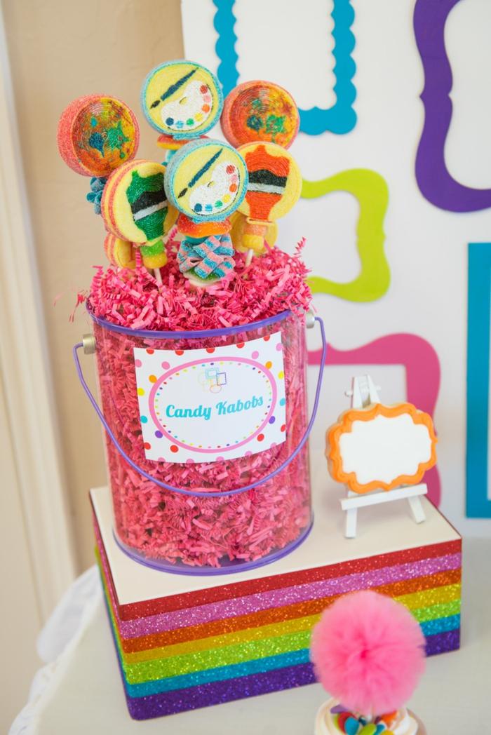 brochettes-de-bonbons-créative-candy-rose-decoration