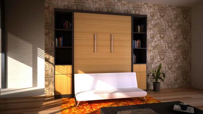 canapé-lit-ikea-lit-pliant-meubles-pour-le-salon-moderne-tapis-orange-chambre-pleine-de-lumière