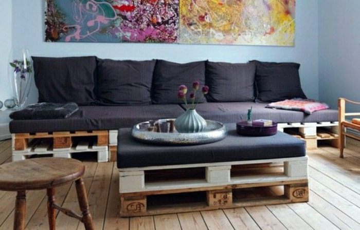 Le fauteuil en palette est le favori incontest pour la - Fabriquer un canape en bois ...