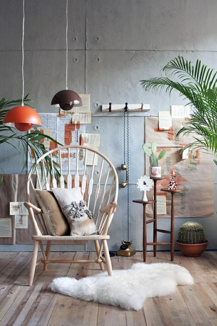 chaise-en-osier-fauteuil-en-rotin-meubles-en-bois-sol-parquet-tapis-blanc