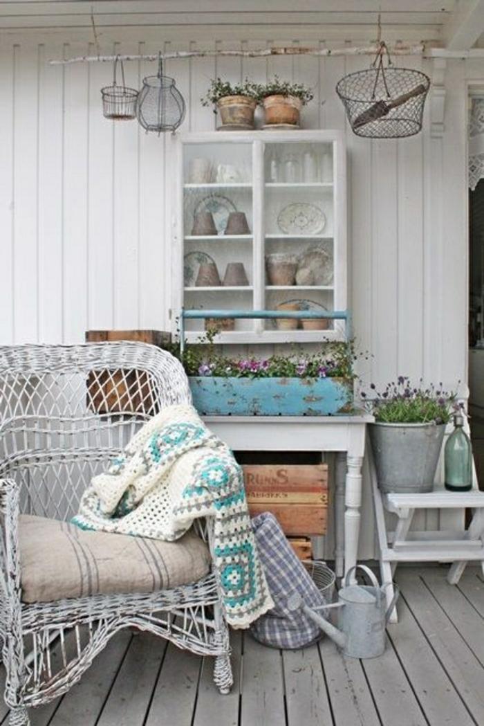 Notre inspiration du jour est la chaise en osier - Chaise en osier blanc ...