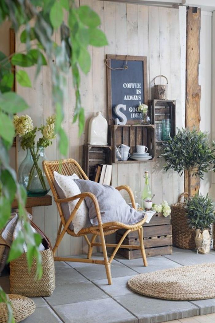 Notre inspiration du jour est la chaise en osier - Foto carrelage terras exterieur ...
