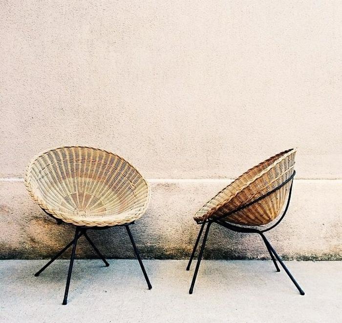 Notre inspiration du jour est la chaise en osier for Blague de la chaise