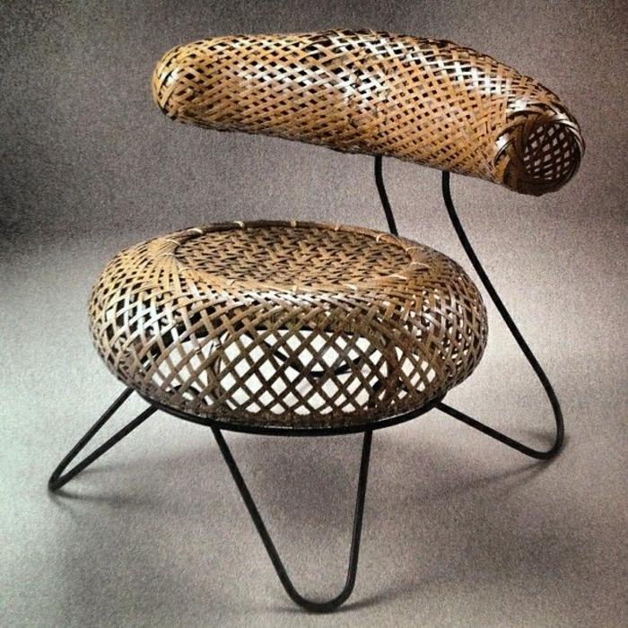 Notre inspiration du jour est la chaise en osier for Chaise rotin et fer